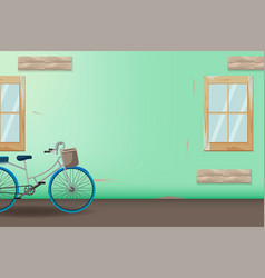 green vintage bicycle style background vector image