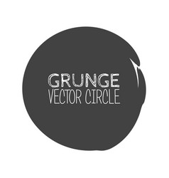 Grunge circle element for your design rubber vector