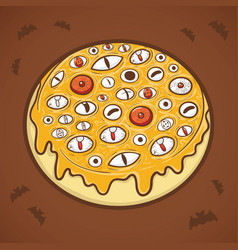 halloween donut eyes vector image