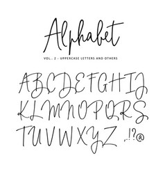 Hand drawn alphabet modern monoline vector
