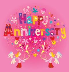 happy anniversary vector image