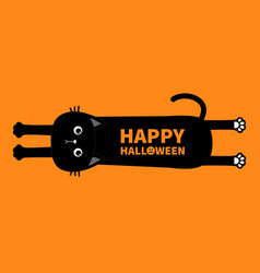 Happy halloween black cat cute cartoon baby vector