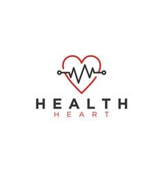 Hearth beat medical logo modern vector