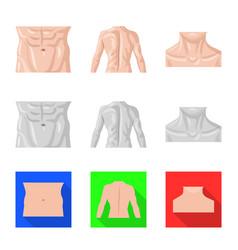 Human and part symbol set vector