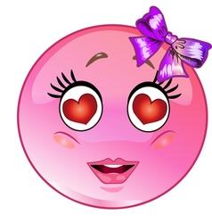In love emoticon vector
