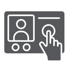 Intercom telephone glyph icon communication and vector
