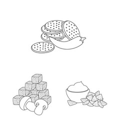 Isolated object taste and crunchy icon set of vector