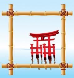 Japanese landscape vector image