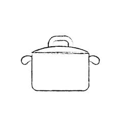 Kitchen saucepan isolated vector