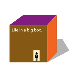 life in a box vector image