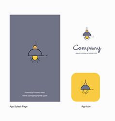 light company logo app icon and splash page vector image