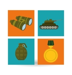 Military binoculars design vector image