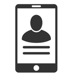 Mobile user properties flat icon vector