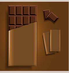mockup advertising chocolate a bar of chocolate vector image
