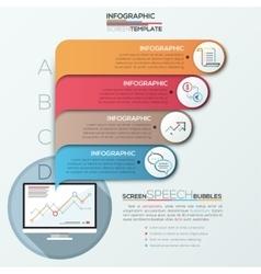 Modern infographic option banner vector image
