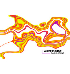 Modern poster with 80 s wave pattern abstract vector
