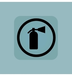 Pale blue fire extinguisher sign vector