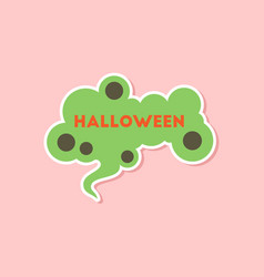 Paper sticker on stylish background halloween sign vector