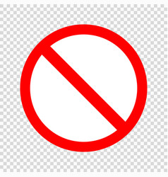 prohibiting sign icon vector image