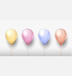 realistic balloons colorful holiday party vector image