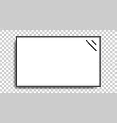 Realistic television screen with isolated white vector