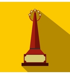 Red goblet flat icon with shadow vector