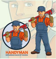 Repairman mascot design vector