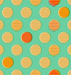 Retro geometrical seamless pattern vector image