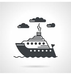Sea ship black icon vector image