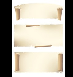 Set of old style banners vector
