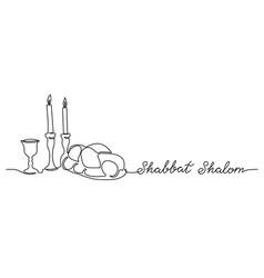 shabbat shalom peaceful sabbath poster vector image