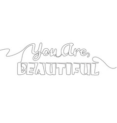 single continuous line drawing motivational vector image