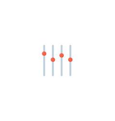 sound mixer icon slider channel vector image