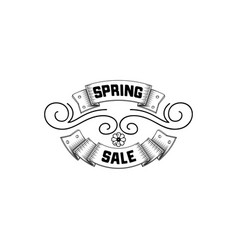 spring sale badge design sticker stamp logo - vector image