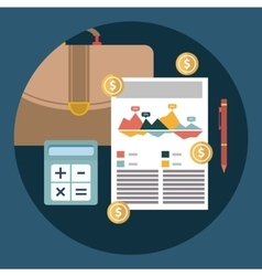 Successful financial business plan report and vector image