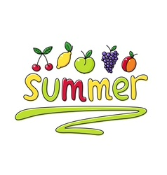 Summer fruits fruit vector