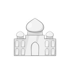 Taj Mahal icon black monochrome style vector