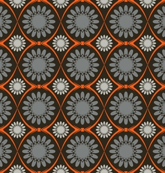 The pattern flowers abstraction background vector image