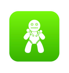 Voodoo icon green vector