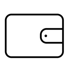 Wallet pixel perfect thin line icon 48x48 vector