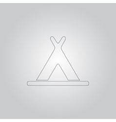 Wigwam icon vector