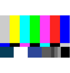 no signal tv test pattern television vector image vector image