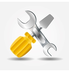 Screwdriver and Wrench icon vector image vector image