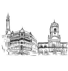 sketch of plaza de mayo vector image vector image