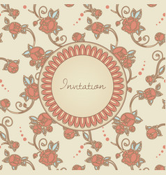 victorian style invitation cerd vector image vector image