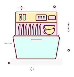 washing machine line style icon vector image