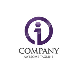 best business corporate letter i logo vector image