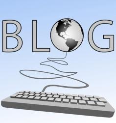 blogging vector image vector image