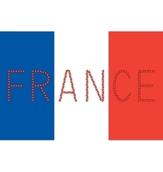 French flag and word France from hearts vector image