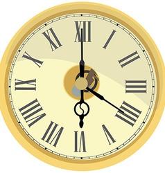 Golden wall clock vector